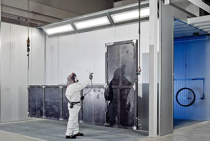 Spray Booth Type Rts With Dry Separation Wet Painting