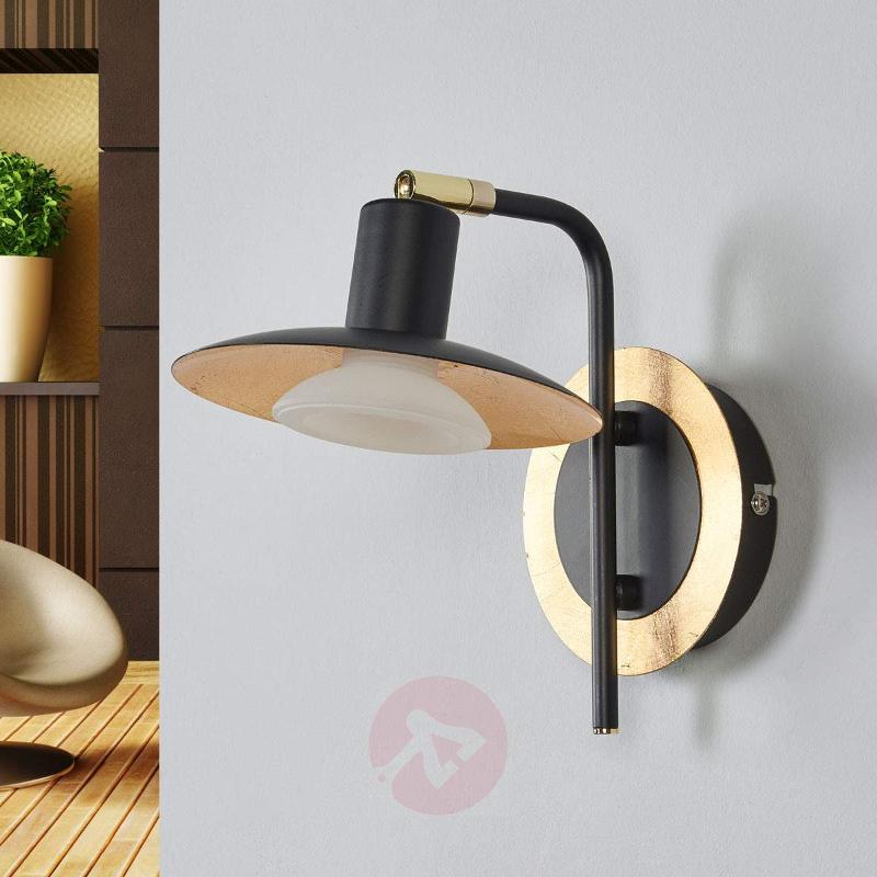 Black-gold LED wall lamp Andrej - Wall Lights