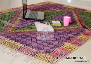 Handmade cotton Rugs, hand coated block printed indian rugs  - indian hand coated cotton rug, india block printed traditional rug,
