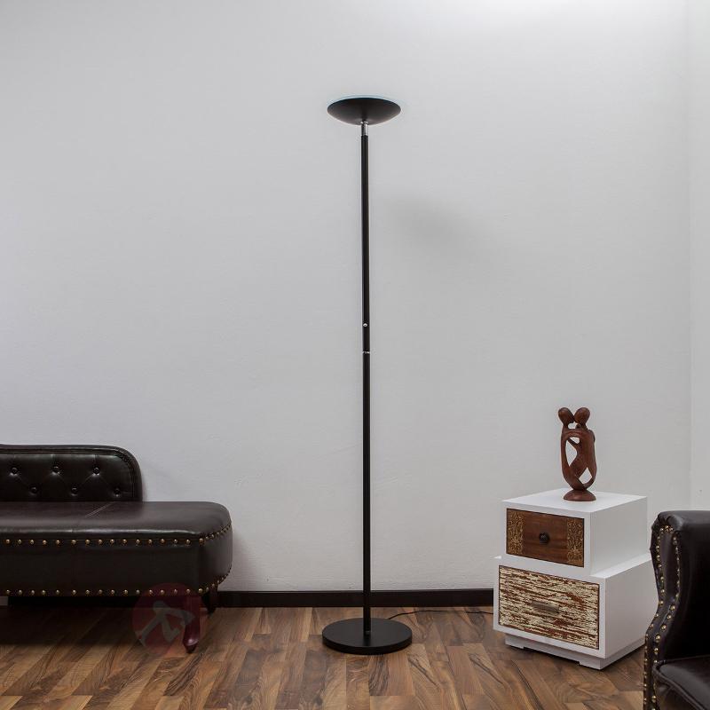 Lampadaire à éclairage indirect LED Malea noir - Lampadaires LED à éclairage indirect