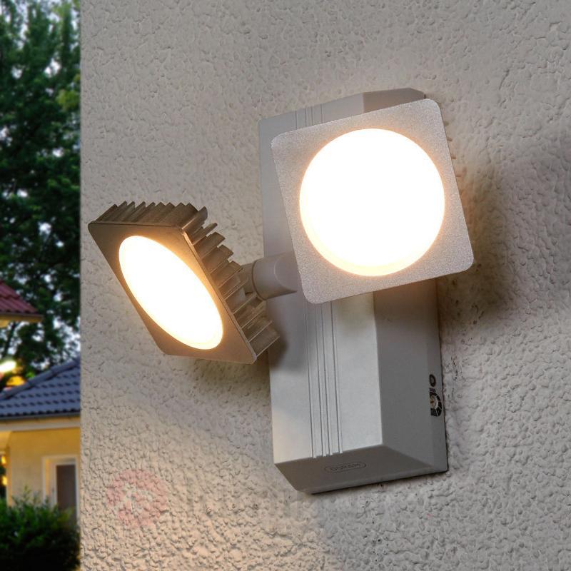 Applique d'extérieur LED double spot Noxlite Smart - Appliques d'extérieur avec détecteur