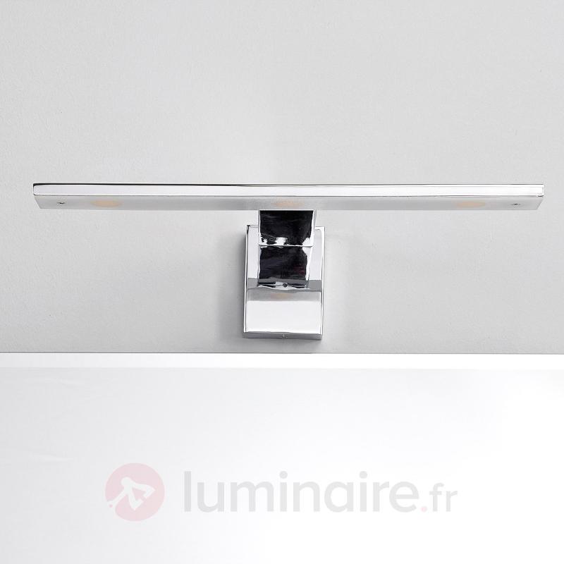 Applique pour miroir LED Lorik élégante chrome - Appliques LED