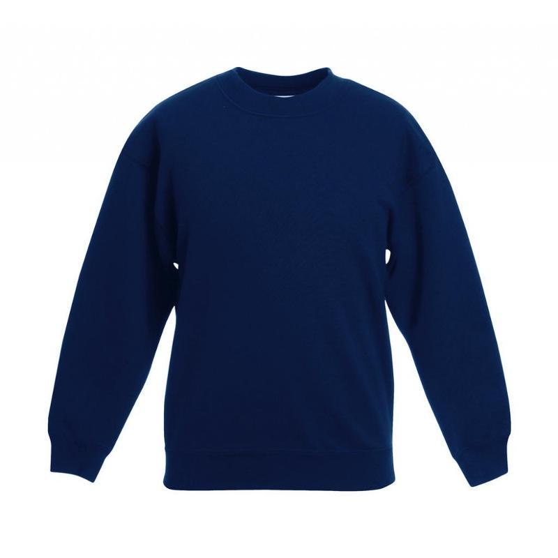 Sweat shirt enfant manches set-in - Sans capuche