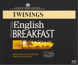 TWININGS Original English Breakfast. Perfect with a slice of buttery toast or a  - null