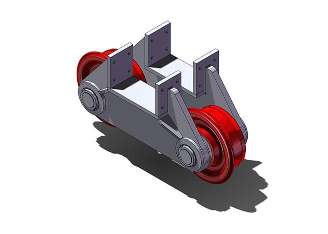Assemblies of 2 wheels - null