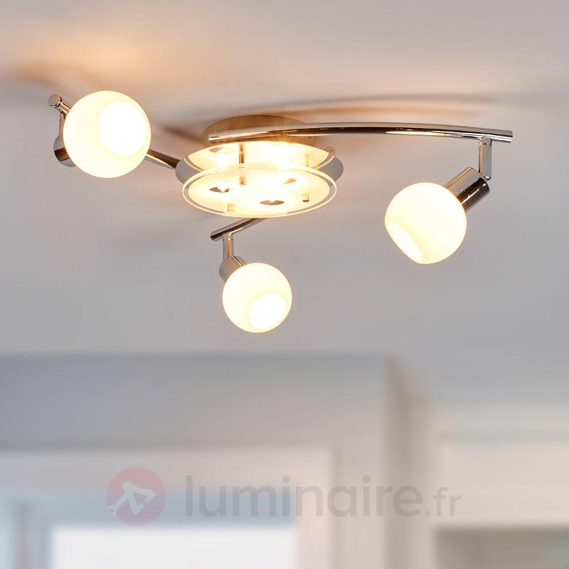 Evaletta - plafonnier avec ampoules LED G9 - Plafonniers LED
