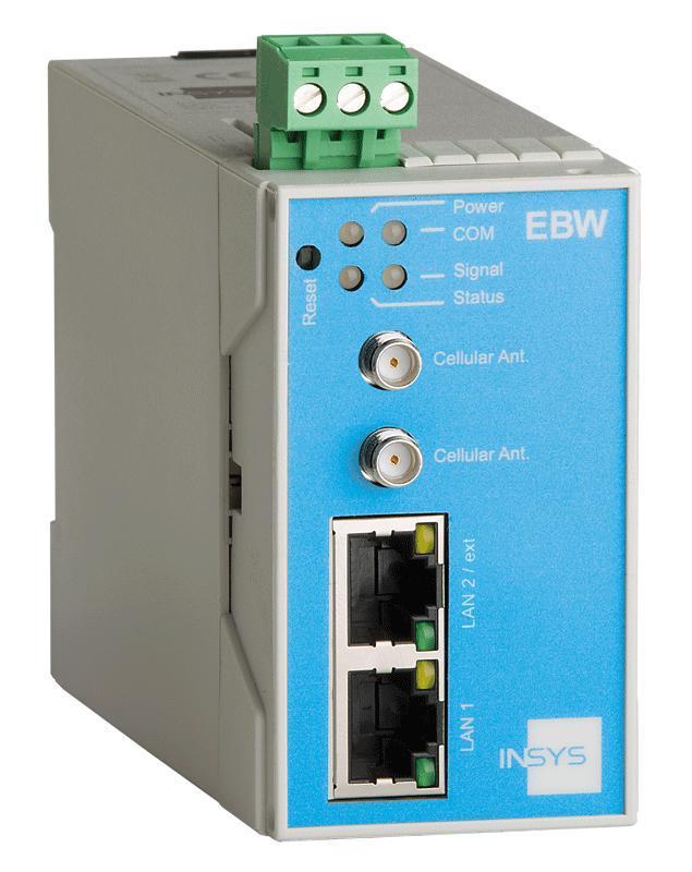 EBW-L100 4G/LTE Router, VPN, Netmapping, IP/Port Forwarding - EBW-L100 Mobile Radio Router, 2 Port Switch, Firewall, Full NAT, Programmable