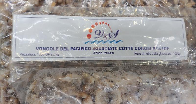 Vongole del Pacifico Sgusciate in Busta IQF - Ittico - Molluschi bivalvi e gasteropodi