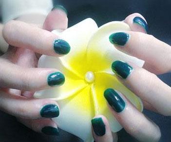 Cosmetics - Dark Green Nail Polish