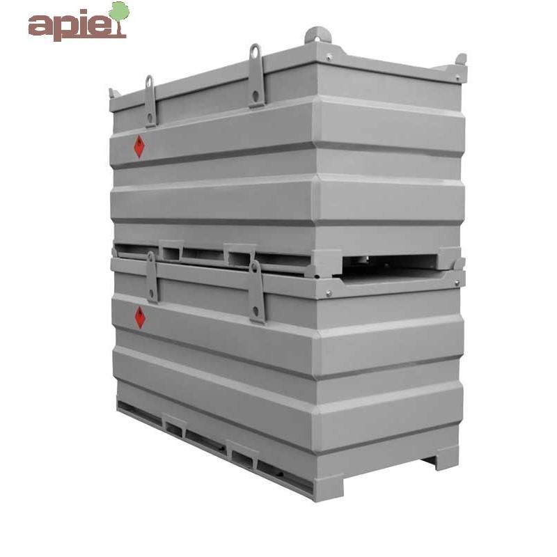 Cuve de ravitaillement gasoil 3000 L spéciale chantier - Référence : TANK-GO-3000L/SP