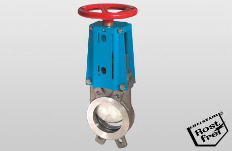 Knife-gate valve WGE-MW. - onedirectional - handwheel - 1.4408