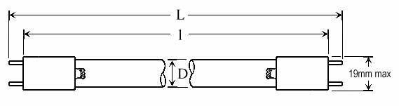 OZONE QUARTZ LAMPS - Lamp Type: O3DP-P2 - null