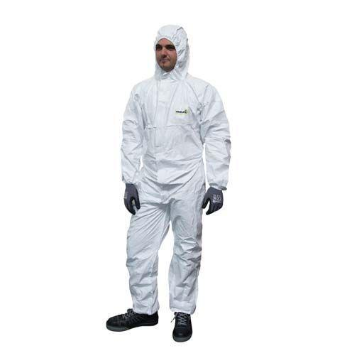Disposable spray overall white - null