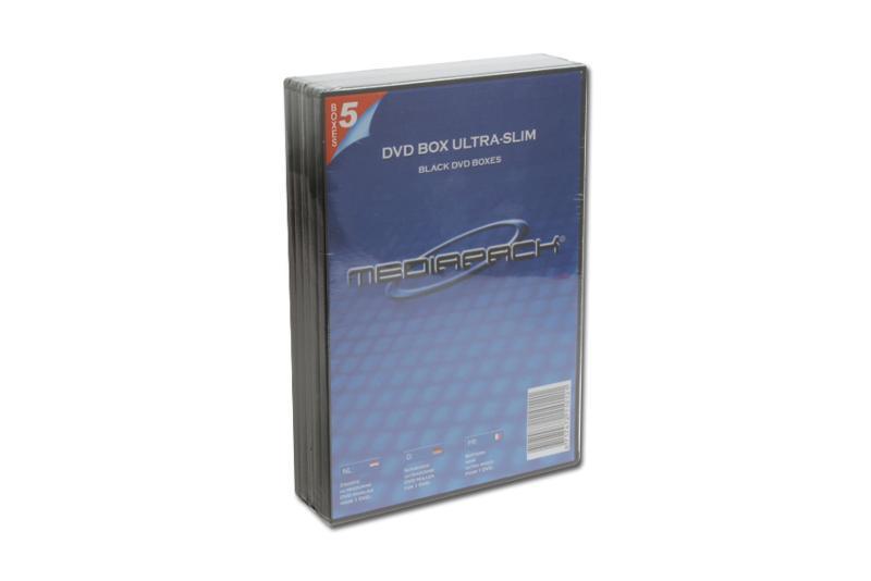 DVD Boxen Slimline - 5er Pack - MPI - 7mm - schwarz - Retailverpackungen & Zubehör