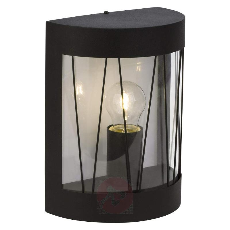 Semi-cylindrical outdoor wall light Reed in black - Outdoor Wall Lights