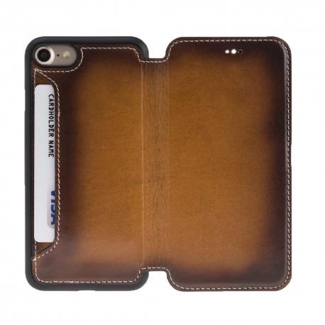 Vintage Slim Book Leather Phone Case 8-7 - Superior Leather phone case for iphone 8