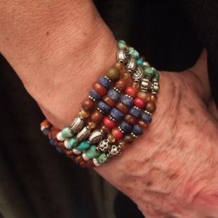 Bracelets - Argent, multi- pierres, Inde