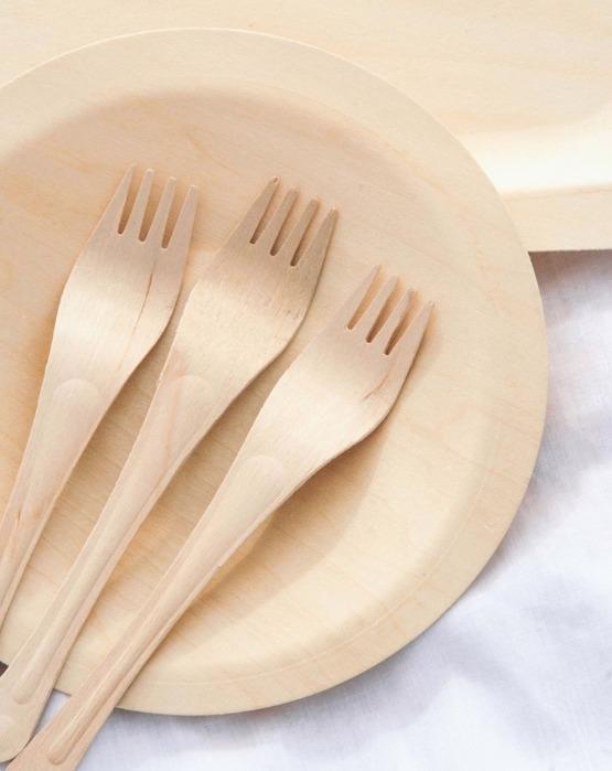 Fork - The disposeble wooden fork