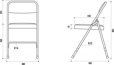 Chaise Pliante Métal Et Tissu - Chaises De Collectivités