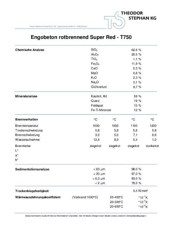 Engobeton rotbrennend Super Red T750 - null