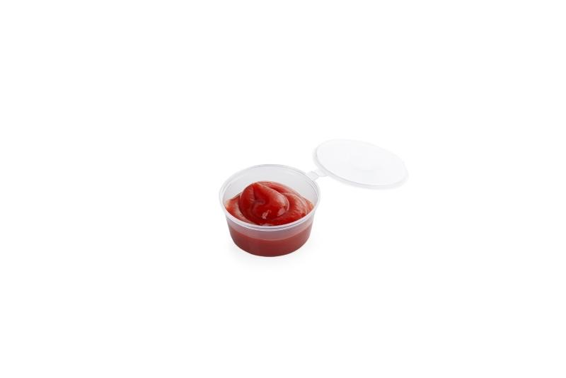 Hinged Sauce Containers - Plastic sauce containers