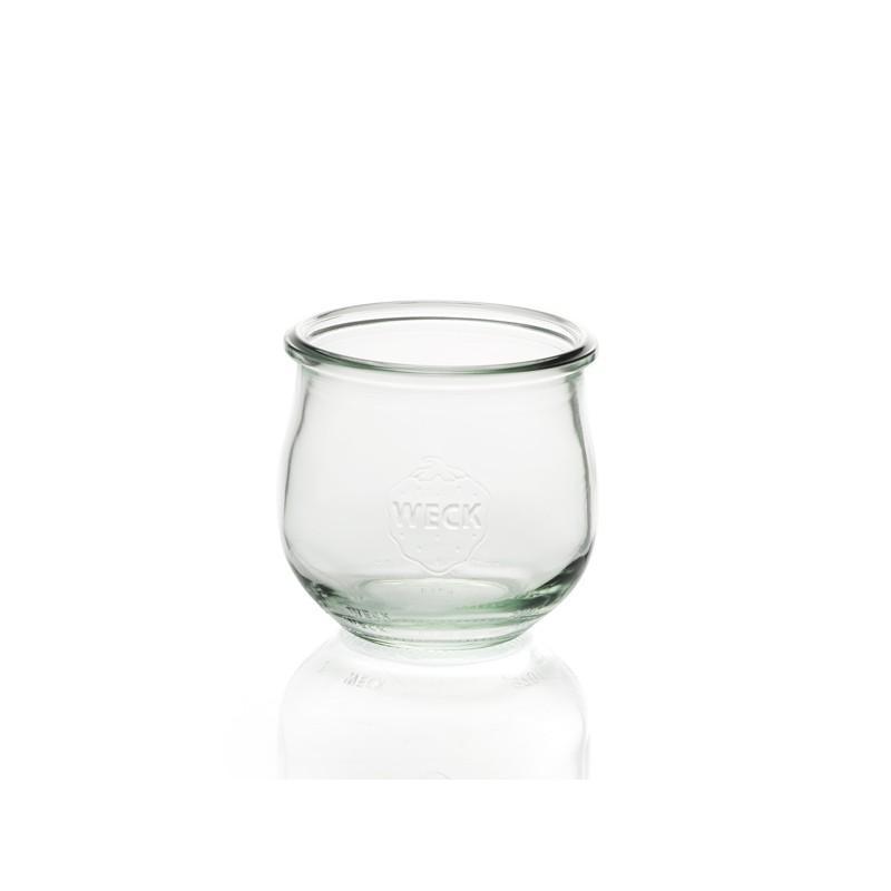 6 glass jars glass Models COROLLE 370ml - Diameter 80 mm