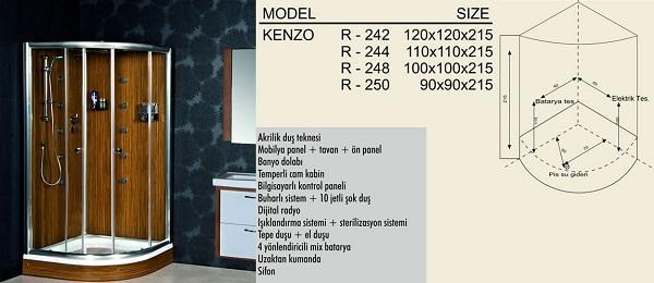 Душевая кабина - Модель Kenzo
