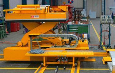 Inline lift platforms - Sheet metal special solutions