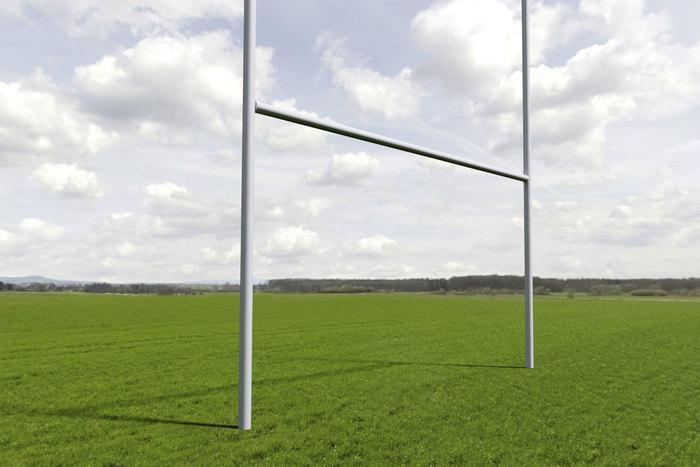 Rugby-Tor, 3-teilig, 5,6 x 6,5 m, alunatur - null