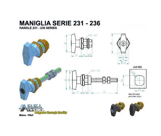Chiusure Maniglie - Maniglie SERIE 231 - 236