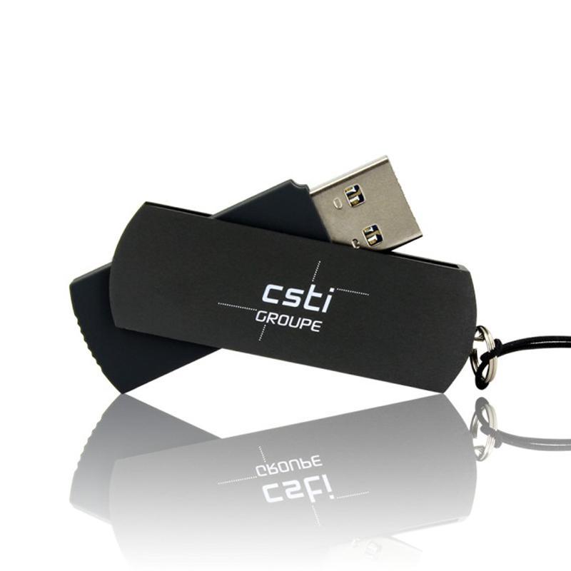 Cle USB Pivotante Aluminium Lisse 16 Go