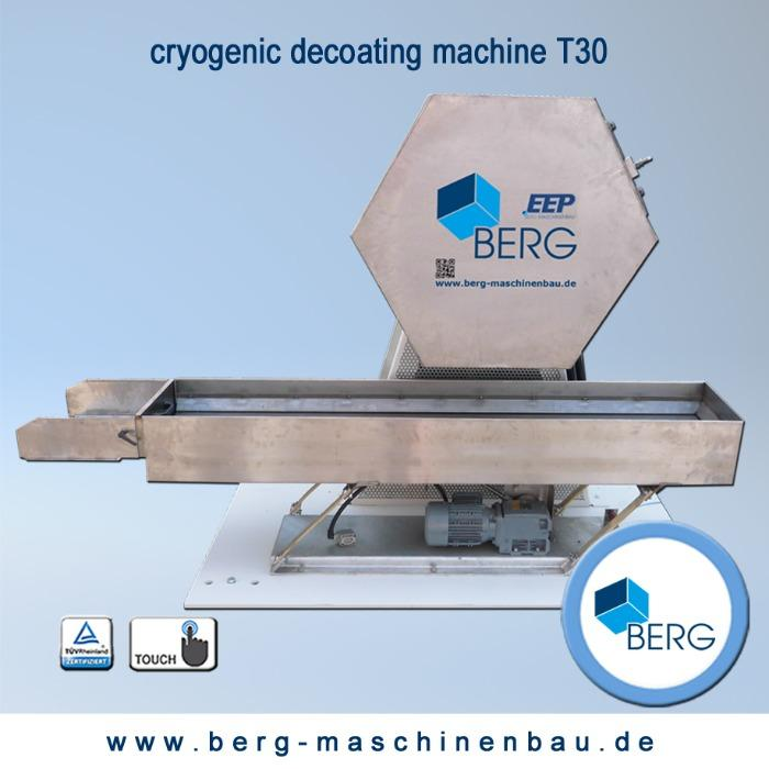 T30 Croygenic decoating machine - for removal of production-related elastomer adhesion – without use of chemicals