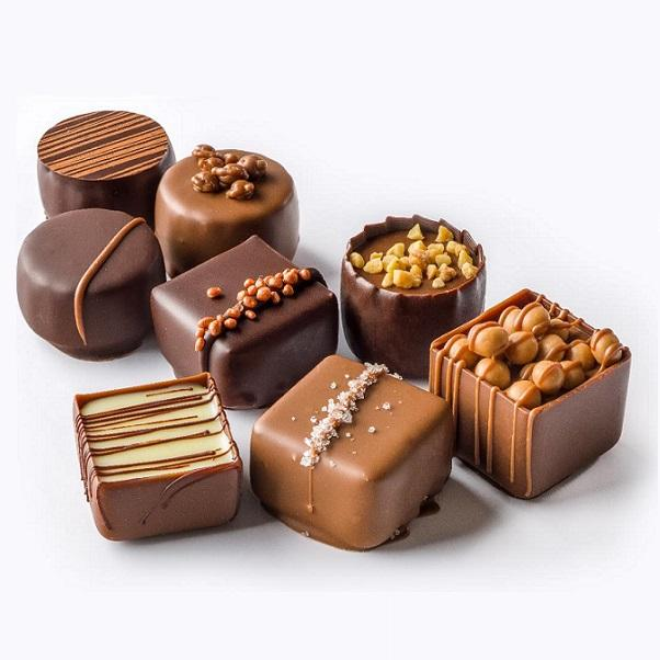 Chocolate Pralines - Bulk chocolate pralines filled with different flavors