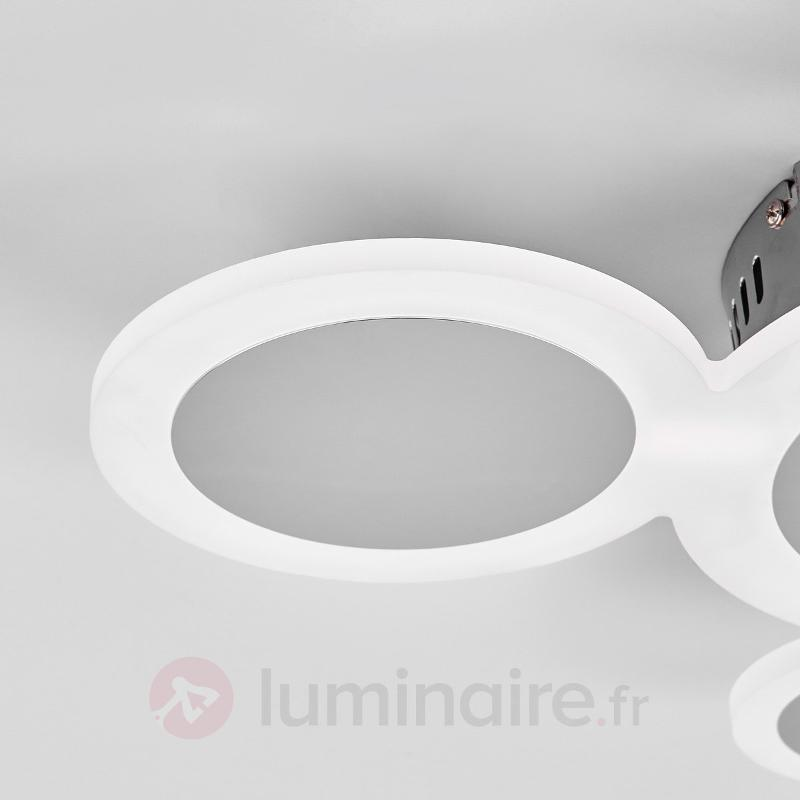 Plafonnier LED tendance Ita chromé brillant - Plafonniers LED