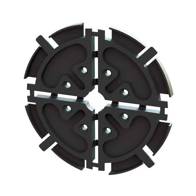 FIBER REEL,BLACK,25MM RAD,4MM SP - Essentra Components EFA04-04-001