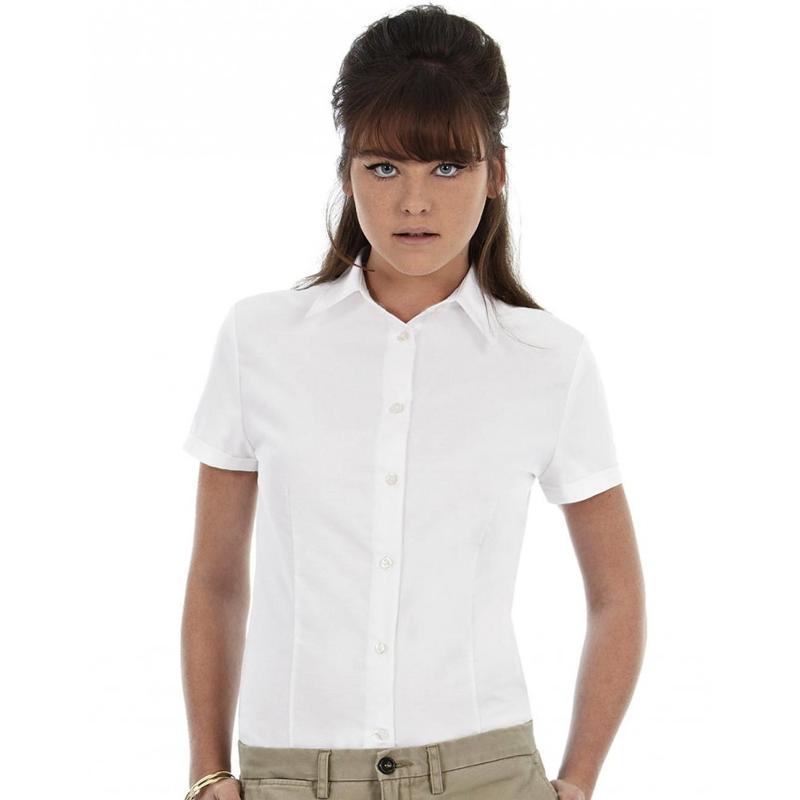 Chemise manches courtes Oxford - Femme