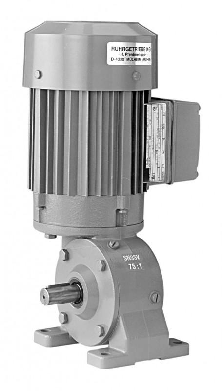 SN9SV - Single-stage gear drive with solid shaft