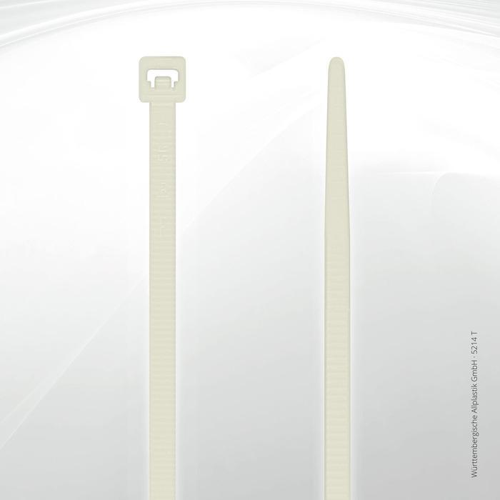Heat resistant cable ties Allplastik-Kabelbinder® - 5214 T (natural)