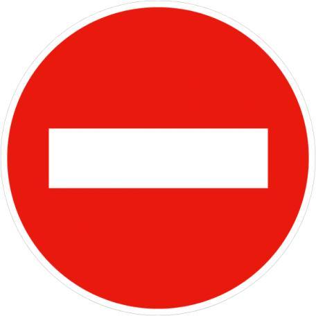 Panneau B1 Sens Interdit - Balisage De Chantier Et Panneaux Routiers