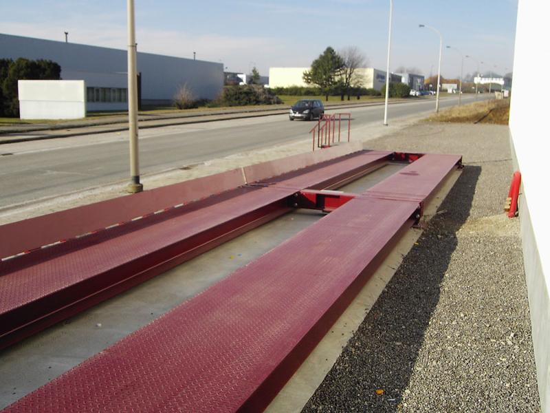 Pont bascule camion hors sol démontable