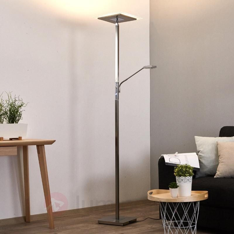 Lampadaire LED Nala carré, variable - Lampadaires LED à éclairage indirect