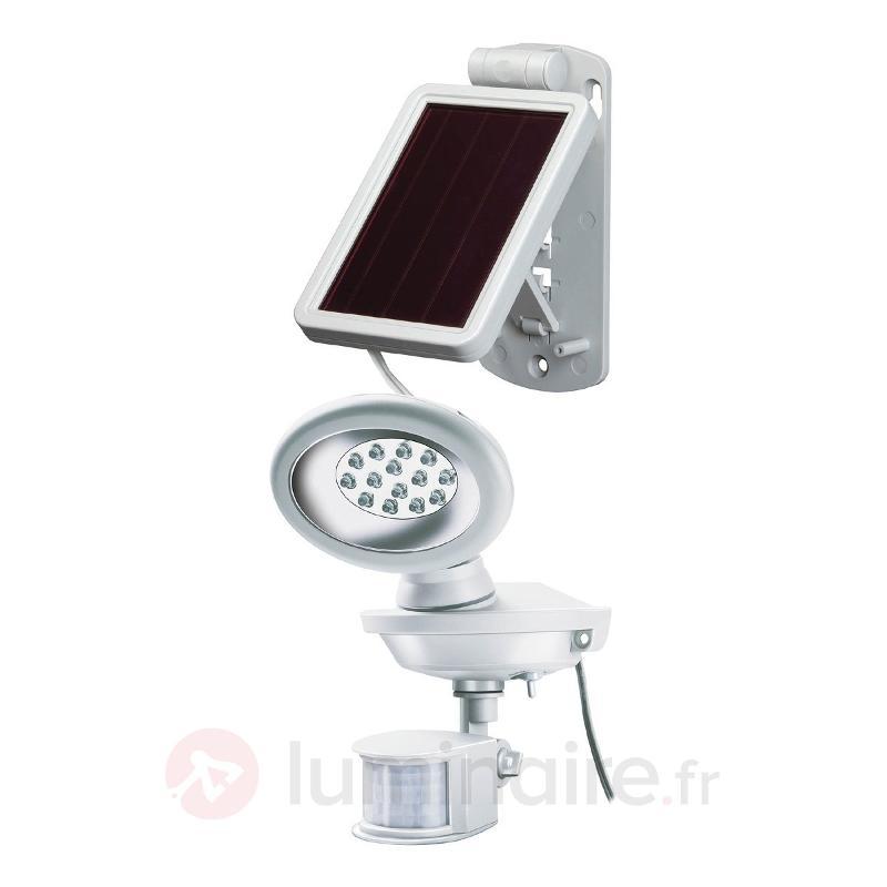 Projecteur LED solaire SOL 14 IP44 blanc - Lampes solaires avec détecteur
