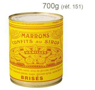 Marrons Confits Brisés au Sirop - Boîte Métal 4/4
