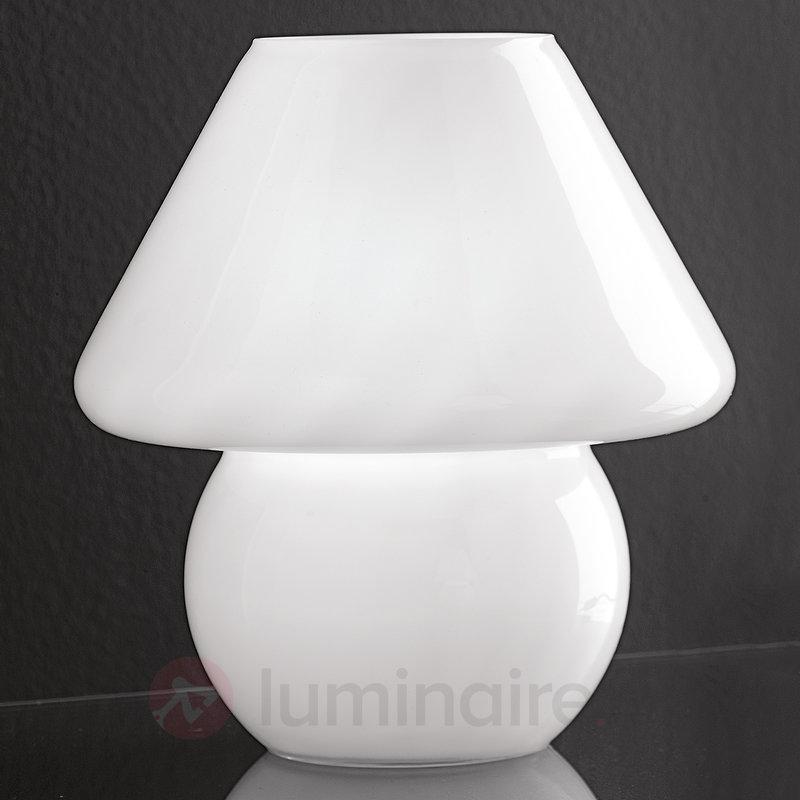 Lampe à poser FUNO en verre opale - Lampes de chevet