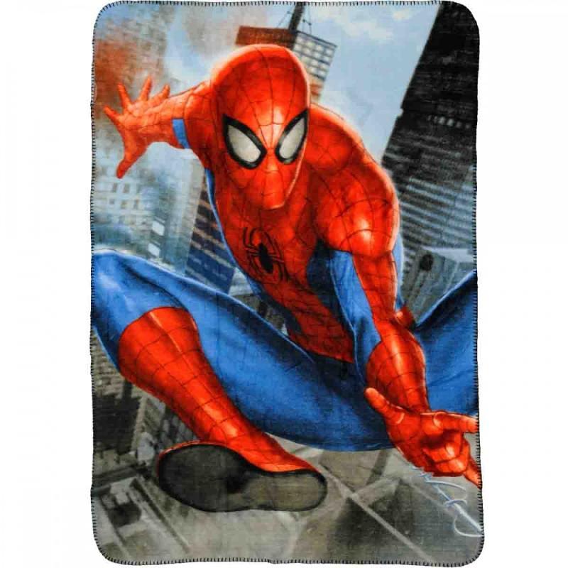 6x Plaids polaires Spiderman 140x100 - Linge de maison