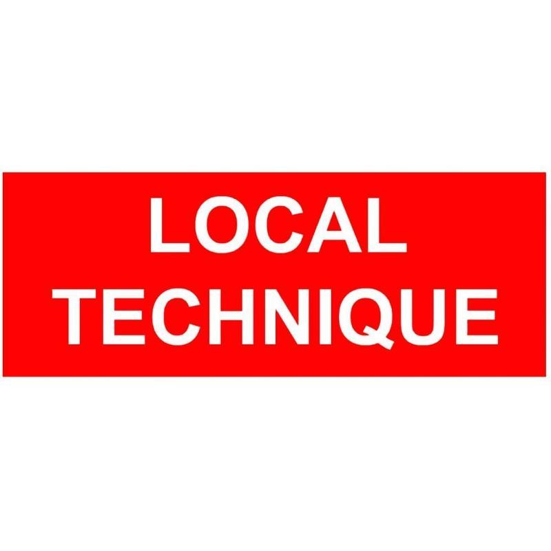 Panneau local technique 200 x 80 mm - Sécurité incendie