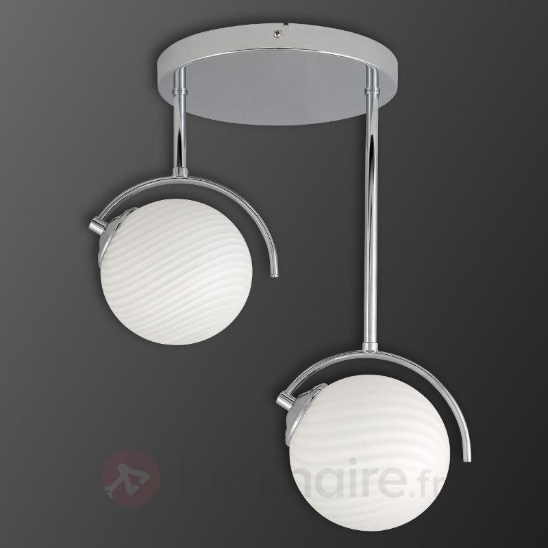 Suspension Galea chromé, 2 lampes - Toutes les suspensions