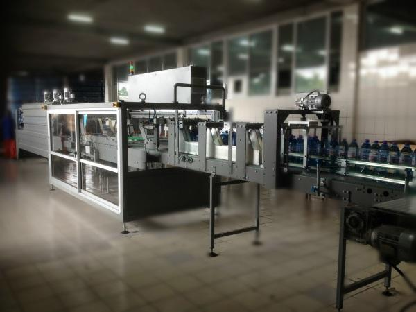SHRINK WRAPPING MACHINE - for pet and glass bottles