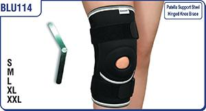 Patella Support Steel Hinged Knee Brace - BLU114