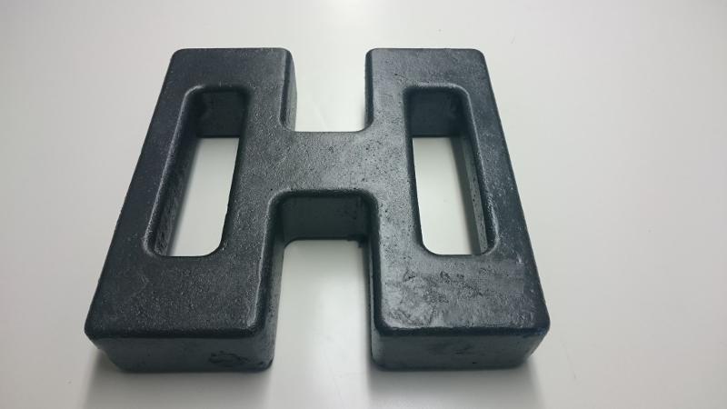 Poids de lestage en fonte d'acier de 15Kg - Accessoires pour tentes pliantes proSZC et proSZP